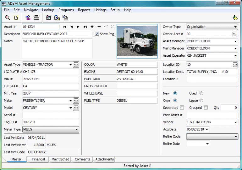 ADaM Asset Management Details - Advanced Business Software